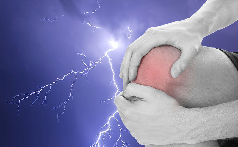 Why does my knee hurt when it rains?