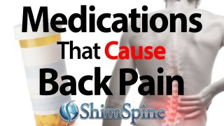 Back pain as side effect of taking medication