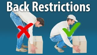 Restrictions for an Injured Back