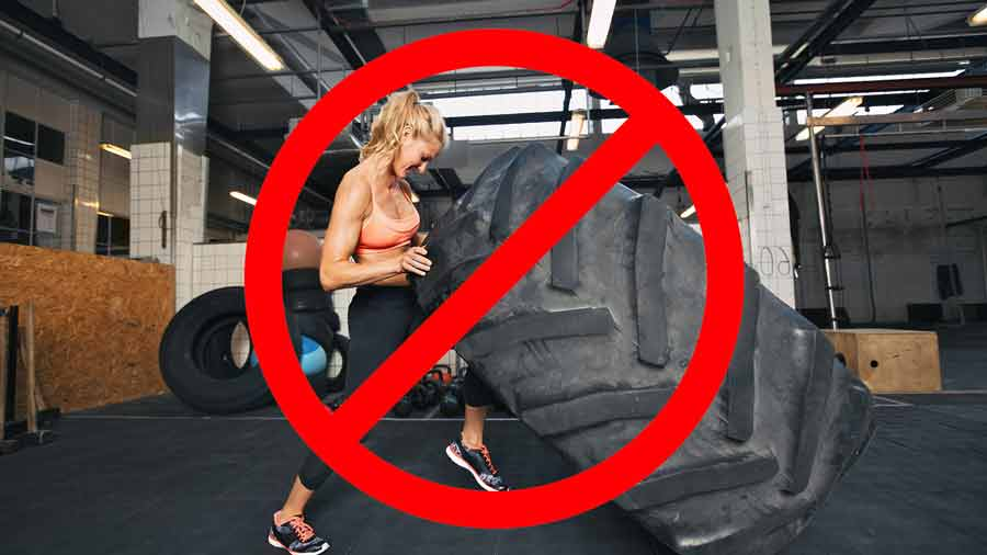 Avoid lifting objects that are heavier than 25 lbs.